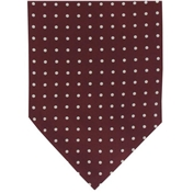 Men's Silk Cravat - Wine with White Polka Dot