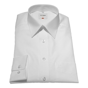 White Poplin - Standard Collar Double Cuff