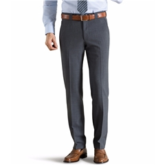 Meyer Trouser Fine Tropical Wool Mix - Mid Grey - Roma 344 07