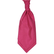 Boy's Shantung Wedding Cravat- Fuchsia