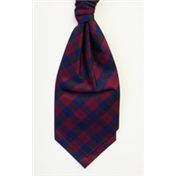 Men's Silk Shantung Wedding Cravat- Tartan Lindsay