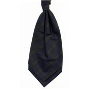 Men's Silk Shantung Wedding Cravat- Tartan Blackwatch