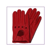 Dents Men's  Deerskin Leather Driving Gloves - Berry