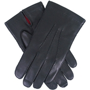 Dents Men's Silk Lined Driving Gloves - Black