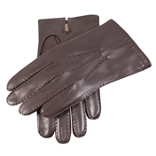 Dents Men's Cashmere Lined Leather Gloves - Brown