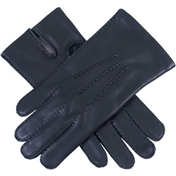Dents Men's Deerskin Leather Gloves - Black