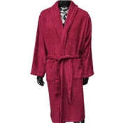 Plain Towelling Robe - Wine