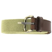 Plain Webbing Belt - Beige