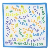 Children's Handkerchiefs - 3 Maths Numbers