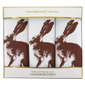 Hare Set of Sporting Handkerchiefs - Country Handkerchiefs - Hare Design