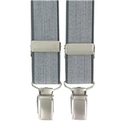 Grey Neat Design Clip-On Men's Braces