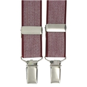 Maroon Neat Design Clip-On Men's Braces