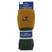 House Of Cheviot Lomond Sock - Pheasant Loden & Mustard