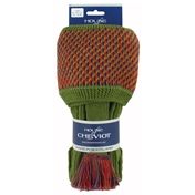 House Of Cheviot Tayside Socks & Garter Ties - Moss
