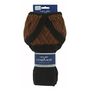 House Of Cheviot Lady Crathie Socks - Dark Natural/Brown