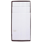 Luxury Box Of 3 White Handkerchiefs With Hand Rolled Hems