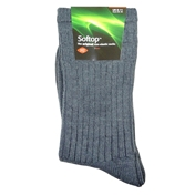 HJ Hall Wool Mix Softop Men's Socks (SK164)- Mid Grey