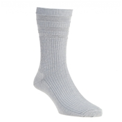 HJ Hall Wool Mix Softop Men's Socks - Silver Grey