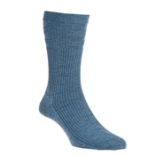 HJ Hall Wool Mix Softop Men's Socks - Slate Blue