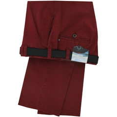 Meyer Trousers Red Soft Cotton Chino