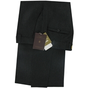 New Meyer Luxury Italian Flannel Trouser  - Charcoal