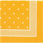 Bandana or Large Handkerchief (B15) - Large Yellow Polka Dots