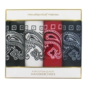 Box of Four Large Bandanas or Handkerchiefs - Four Paisley