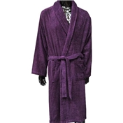 Plain Towelling Robe - Purple