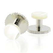 Dress Studs - Silver/Pearl