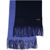 Navy / Blue Reversible Acrylic Fashion Scarf