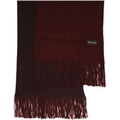 Wine / Light Wine Reversible Acrylic Fashion Scarf