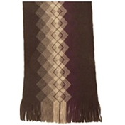 Grey/Purple Patterned Acrylic Fashion Scarf