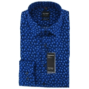 New for 2014 - Olymp Shirt - Dark Blue Abstract Shirt