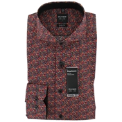New for 2014 - Olymp Shirt - Red Floral Patterned