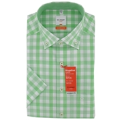 New for 2014 -  Olymp Casual Shirt - Green and White