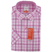 New for 2014 -  Olymp Casual Shirt - Pink and White - M & XXL Only