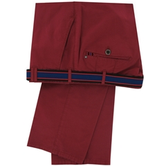 New 2015 Meyer Cotton Poplin Trouser - Red - Limited Edition