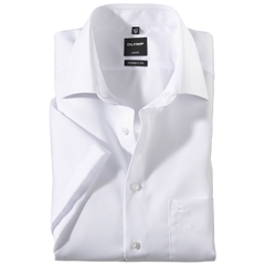 Olymp Modern Fit Half Sleeved Shirt - White