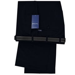 Bruhl Trousers Spring Weight Cotton - Navy - Style Montana 3276-680