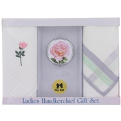Set of  2 Ladies Handkerchiefs with Pill Box