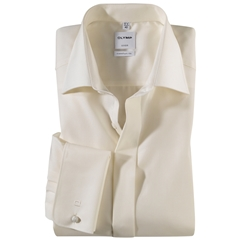 Olymp Cream Evening Dress Shirt - Standard Collar - Comfort Fit