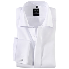Olymp White Evening Dress Shirt - Standard Collar - Modern Fit