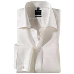 Olymp Cream Evening Dress Shirt - Standard Collar - Modern Fit