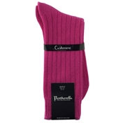 Womens Pantherella Cashmere Socks - Hot Pink