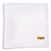 Men's Large Linen Handkerchief With A Corded Border