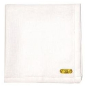 Men's Large Linen Handkerchief With A Hemstitched Border