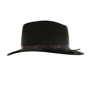 Mens Waterproof Wool Fedora in Green