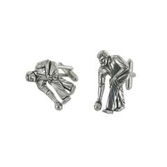 Bowls Theme English Pewter Cufflinks