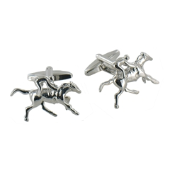 Small Jockey on Horse Cufflinks