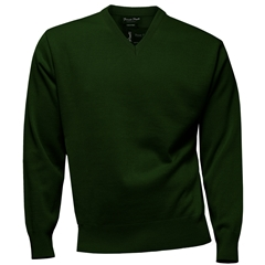 Franco Ponti Classic Vee Neck Sweater - Medium Weight - Fern